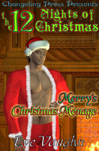 Merry's Christmas Menage (Twelve Nights) by Eve  Vaughn